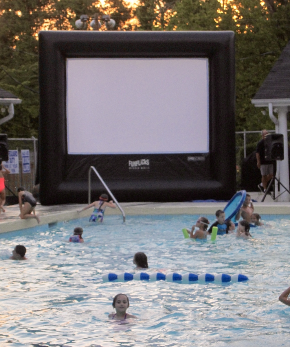 Family movie night in the pool 2016 murraywood swim - Emergency action plan swimming pool ...